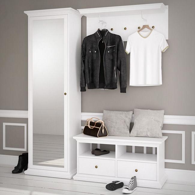 romantyczny przedpok j paris bia y. Black Bedroom Furniture Sets. Home Design Ideas